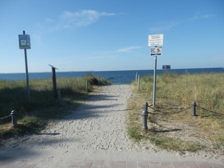 Strand Zugang in Glowe